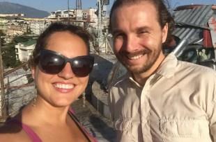 Kate and I in Tirana