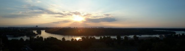 Sunset from Belgrade Fortress
