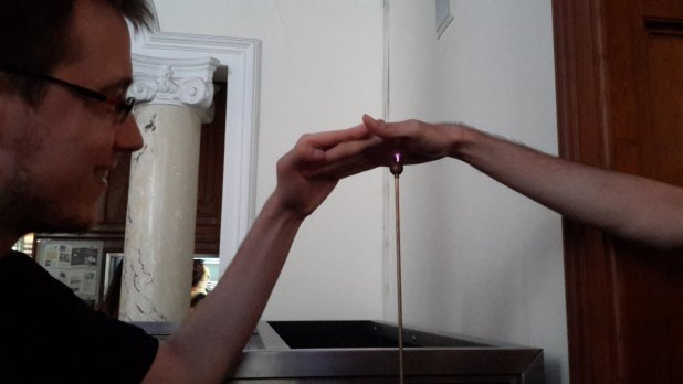 Hand Over Tesla Coil