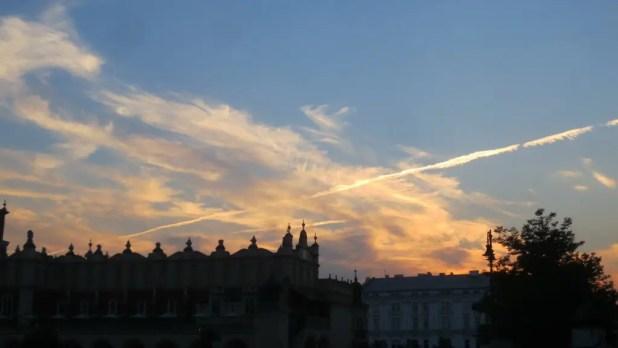 Sunset over Krakow