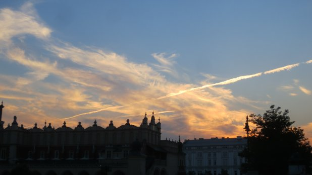 Sunset over Krakow
