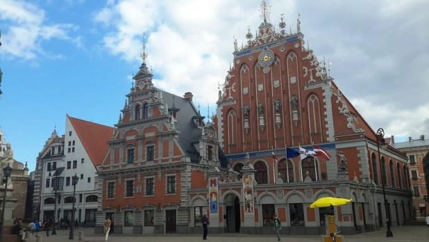 Fancy buildings in Old Town Riga