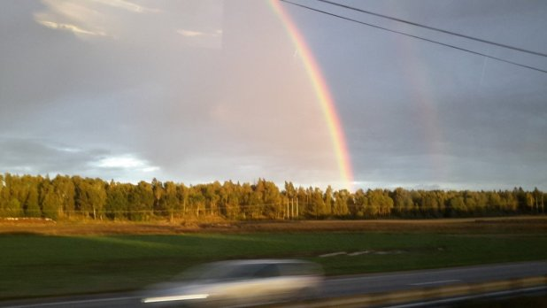 Rainbow from Bus
