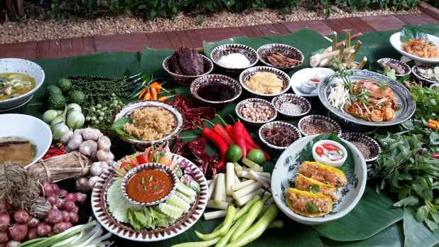 Siam Wisdom Food Display