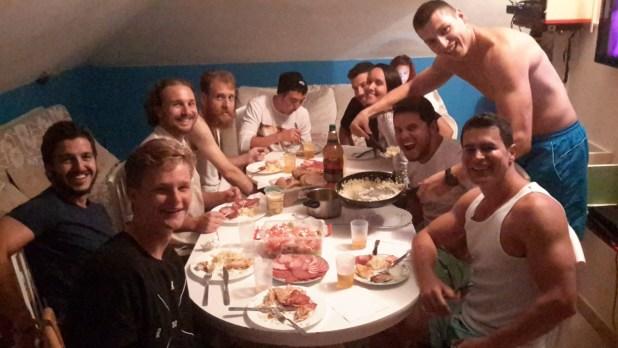 Staff-prepared dinner at Montenegro Hostel 4U