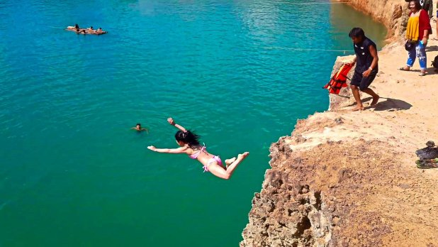 Girl Falling Off Cliff
