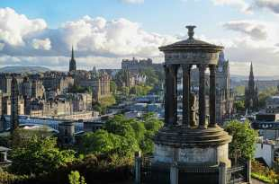 Edinburgh with Dugald Stewart Monument, Free Attractions in Edinburgh