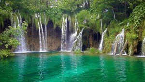 Plitvice Lakes Waterfalls Vibrant