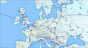 European Travel Routes