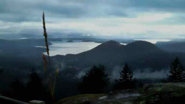 View of San Juan Islands Surreal