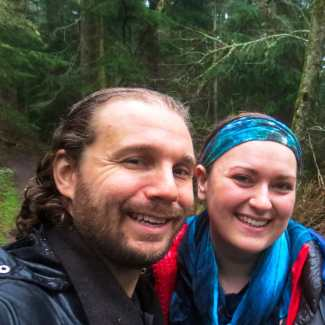 Kirstin and I on Orcas Island