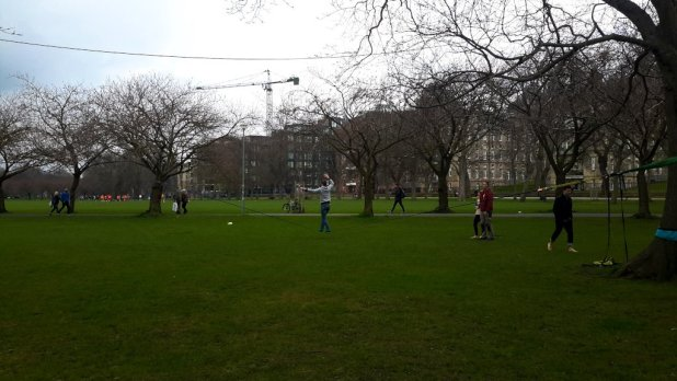 Slacklining in the Meadows