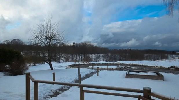 Snowy Countryside Around Sjuntorp