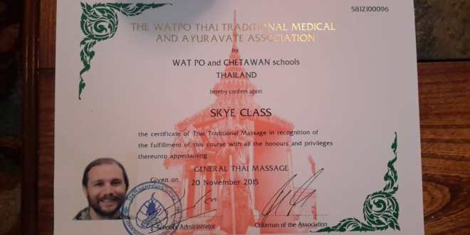 Thai Massage Therapist License