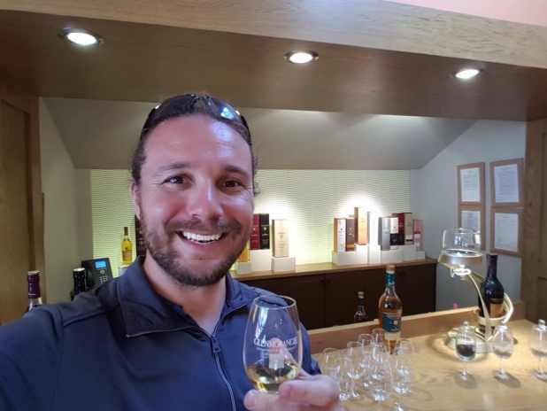 Selfie Tasting Whiskey at Glenmorangie Distillery