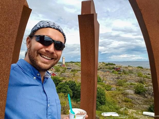 Selfie with Ice Cream on Landsort
