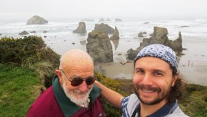 Dad and I on Oregon Coast