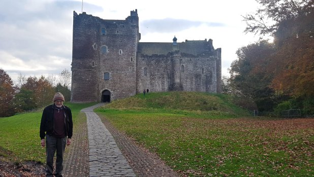 Dad at Doune Castle