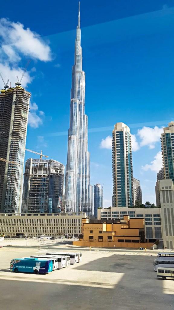 Burj Khalifa from Metro