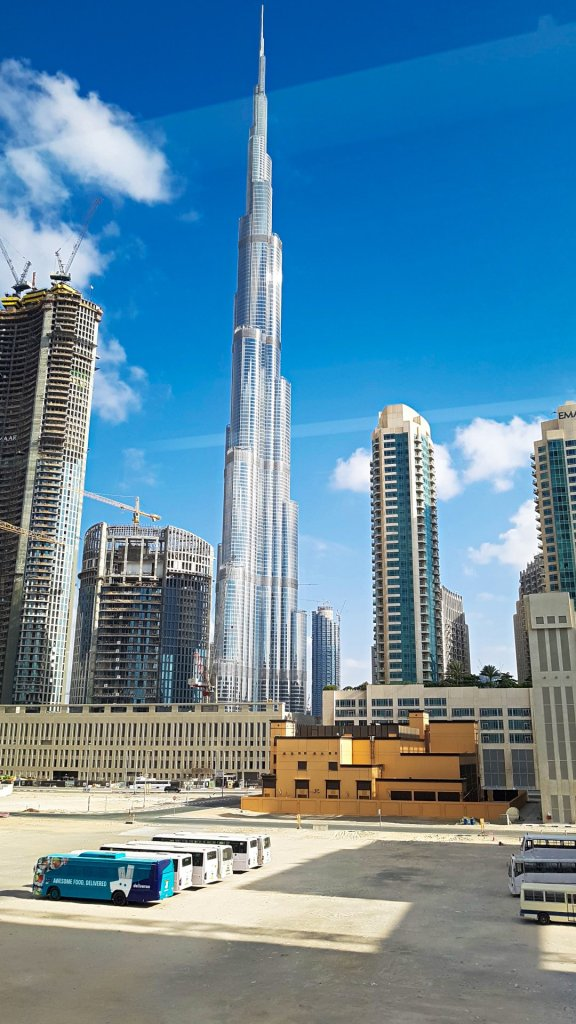Burj Khalifa from Metro