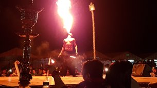 Desert Safari Fire Dancer Breathing Fire
