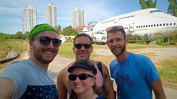 Group Selfie at the Airplane Graveyard