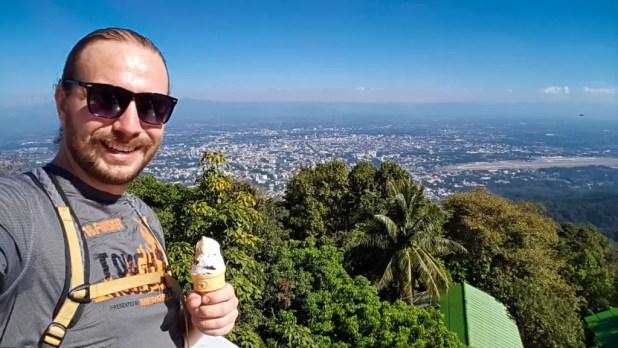 Selfie with Ice Cream at Wat Phra That Doi Suthep