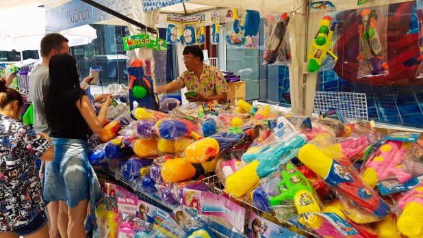 Water Guns at Songkran