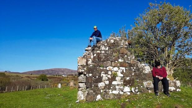 Dad and I at St Columba's Island