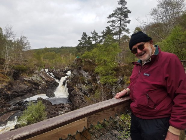 Dad at Rogie Falls
