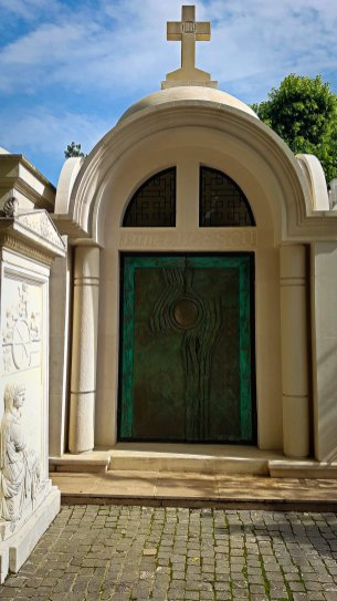 Decorative Crypt at Bellu Cemetery #3