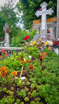 Flower Grave in Bellu Cemetery