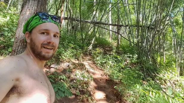 Selfie Hiking to Mae Yen Waterfall