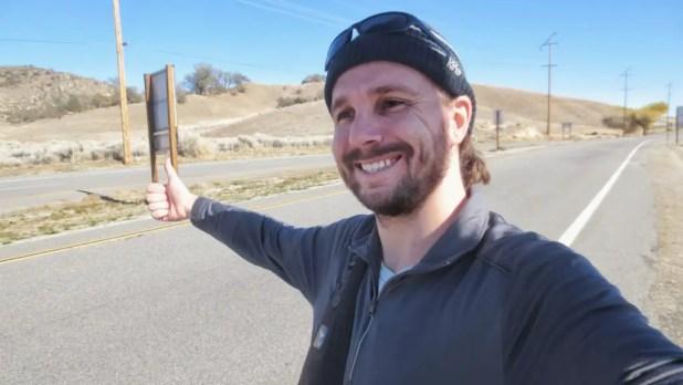 Selfie Hitchhiking in California