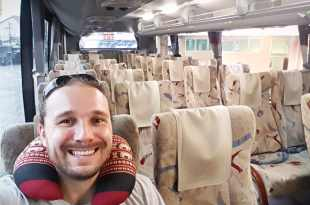 Selfie on Bus to Chiang Rai (Dream of Traveling)