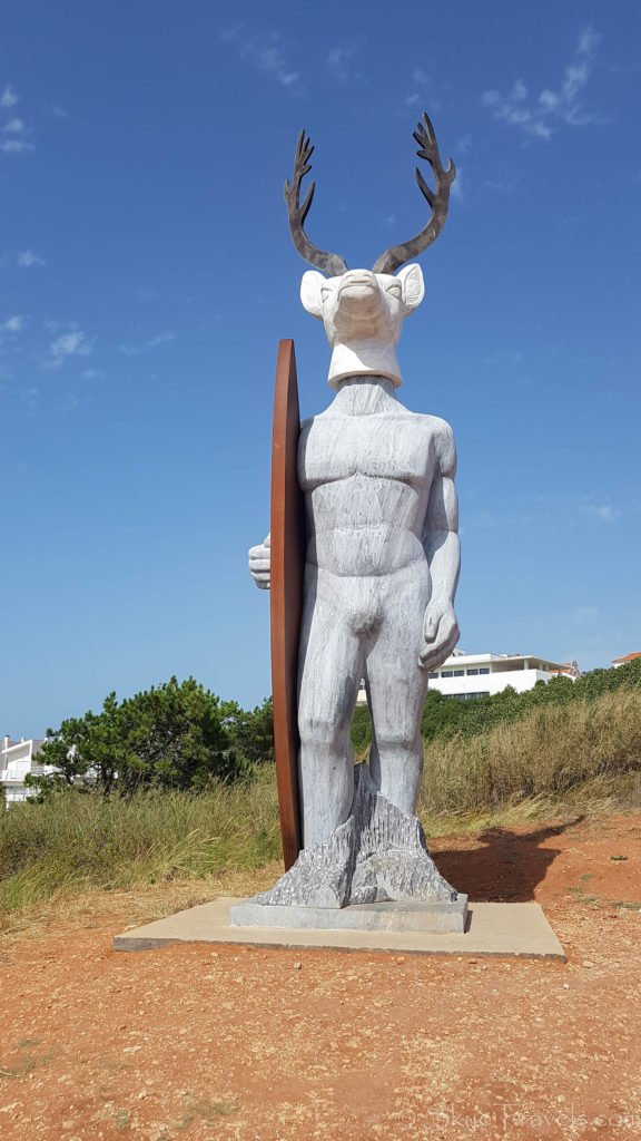 Surf Statue in Nazare