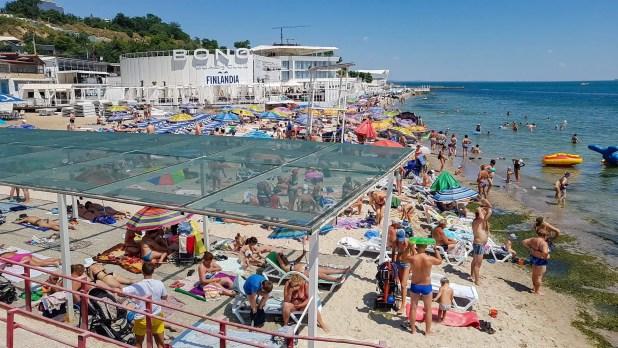Beach Crowd in Odessa