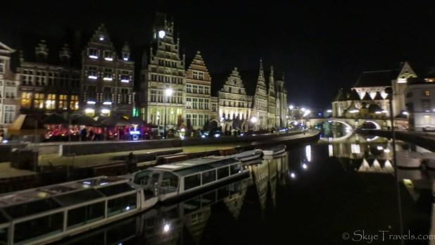 Leie Waterfront at Night