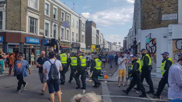 Police at Notting Hill Festival