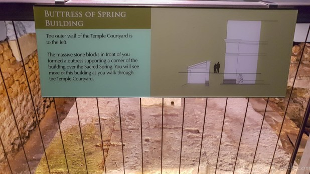 Spring Building Info at the Roman Baths