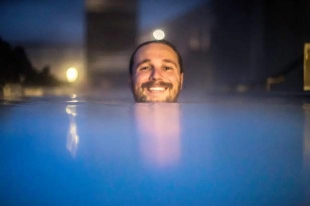 Night Selfie at the Blue Lagoon
