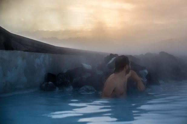 Profile Selfie at the Blue Lagoon