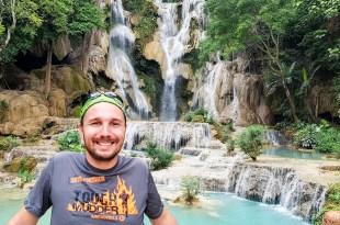 Selfie at Kuang Si Waterfalls
