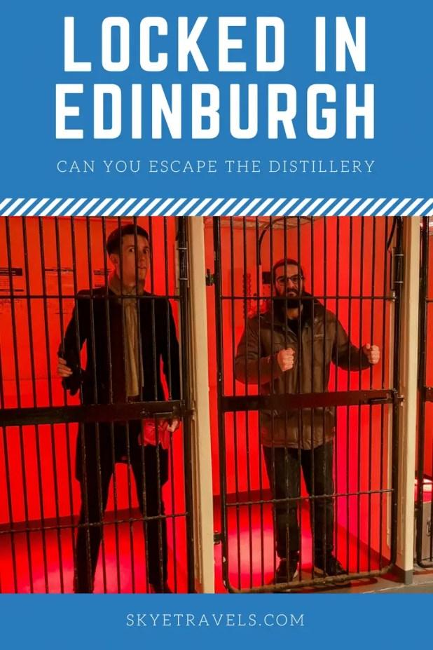 Locked in Edinburgh Pin