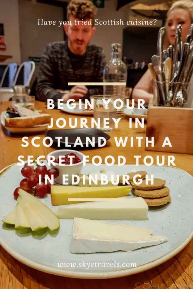 Secret Food Tour in Edinburgh Pin
