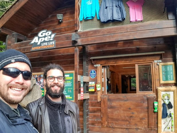 Selfie with Luca at Go Ape Peebles