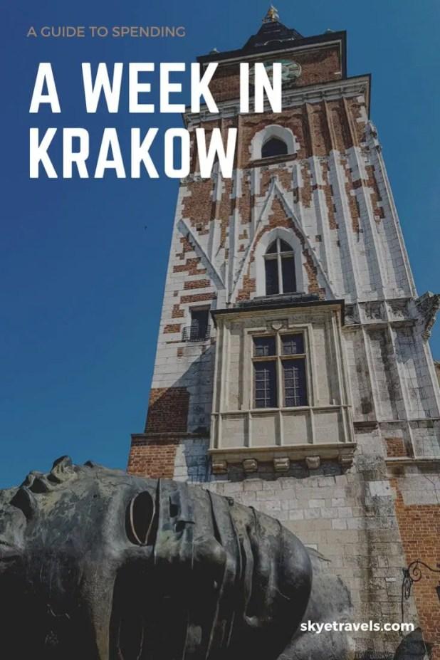 A Week in Krakow Pin