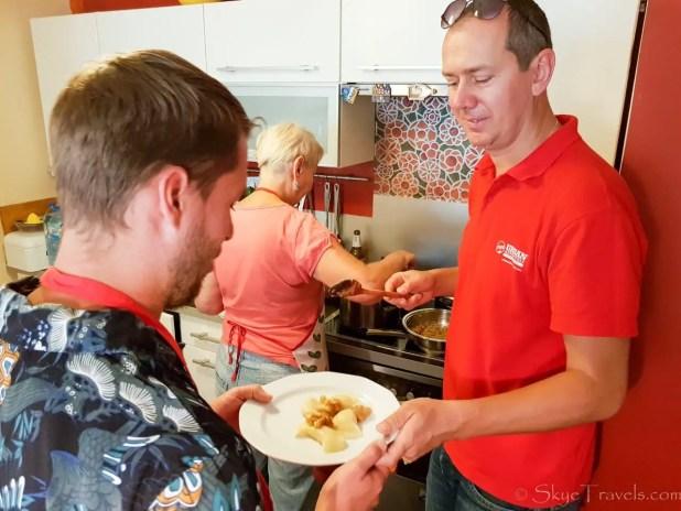 Homemade Pierogi Servings