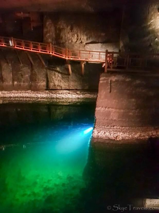 Salt Mine in Krakow Underground Lake