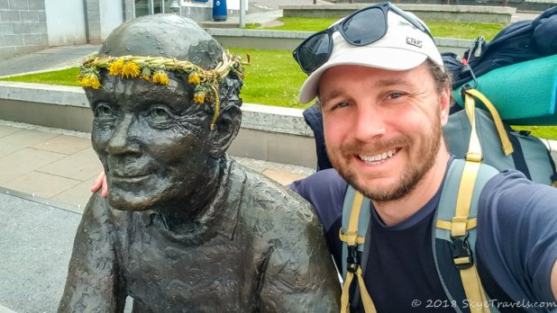 Selfie with The Traveler at the End of the West Highland Way